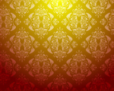 free vector Seamless Damask Wallpaper
