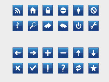 free vector Rectangle Blue Signs