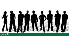free vector Stylish People silhouettes free vector