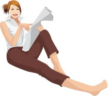 free vector Sit girl position vector 15