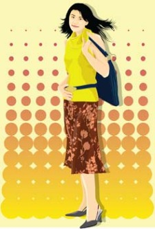 free vector Beautiful Urban Girl 26