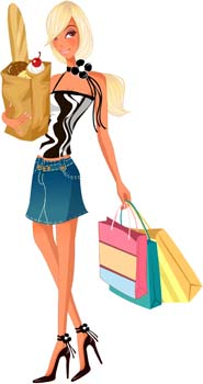 free vector Shopping urban 25