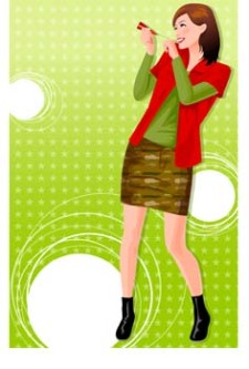 free vector Beautiful Urban Girl 36