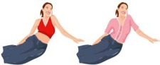 free vector Sit girl position vector 9