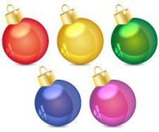 free vector Christmas balls art