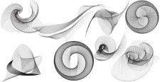 free vector Design elements  - Grey Spiral free vector