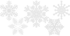 free vector Design elements - Snowflakes