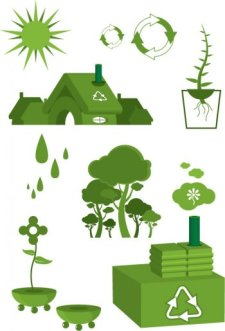 free vector Ecology - green earth vector, save planet earth vector