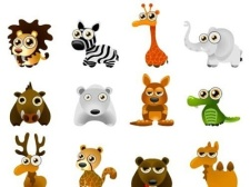 free vector Wild animal cartoon