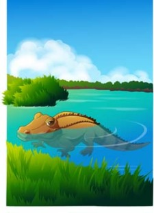 free vector Crocodile 5