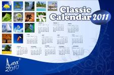 free vector Classic Calendar for 2011