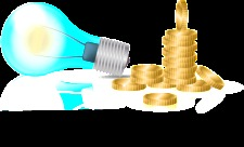 free vector Business Idea - Light Bulb and Gold Coin Vectors
