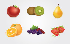 free vector Fruits Vector