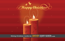 free vector Shining Christmas Candles