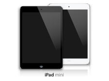free vector Black and White iPad Mini Vector