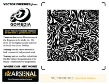 free vector Seamless Swirls Pattern