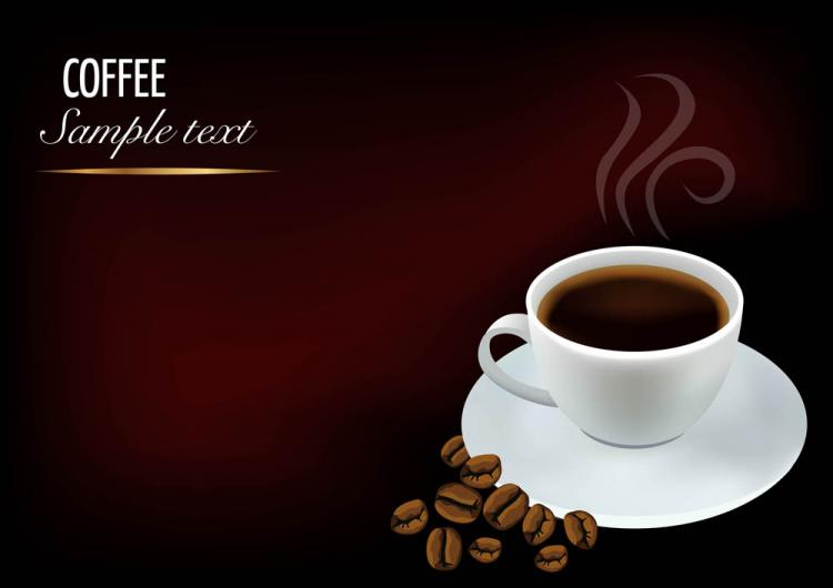 free vector 03 element vector background beautiful coffee