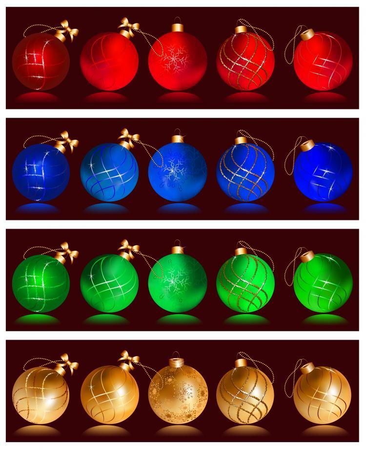 free vector 030-Christmas Balls