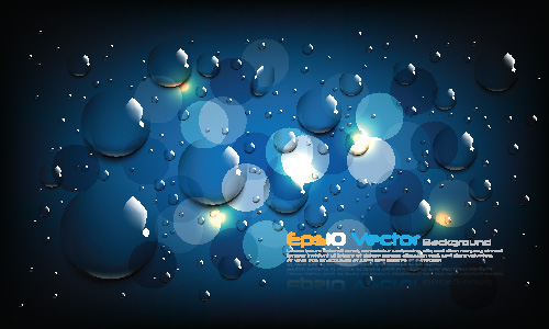 free vector 1 blue water drops background vector