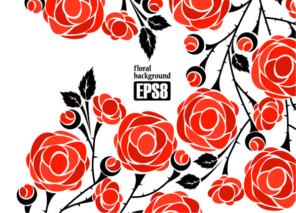 free vector 1 roses vector