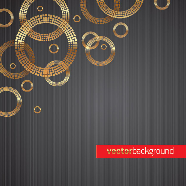 free vector 1 round gold background vector
