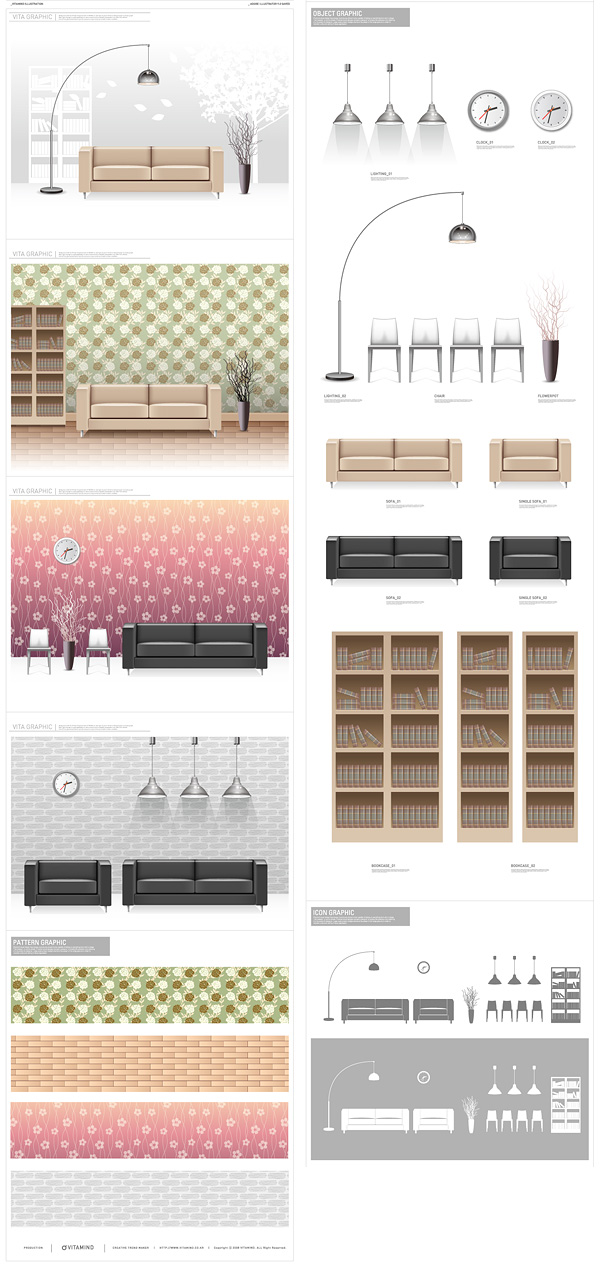 free vector 1 vector fashion indoor home