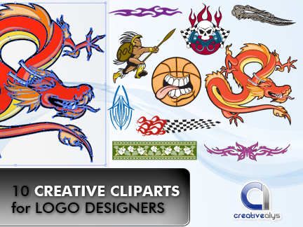 free vector 10 Creative Cliparts for Logo Designers