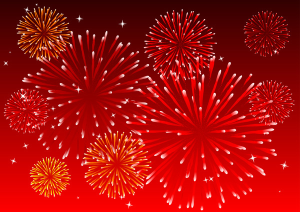 free vector 10 dazzling fireworks vector