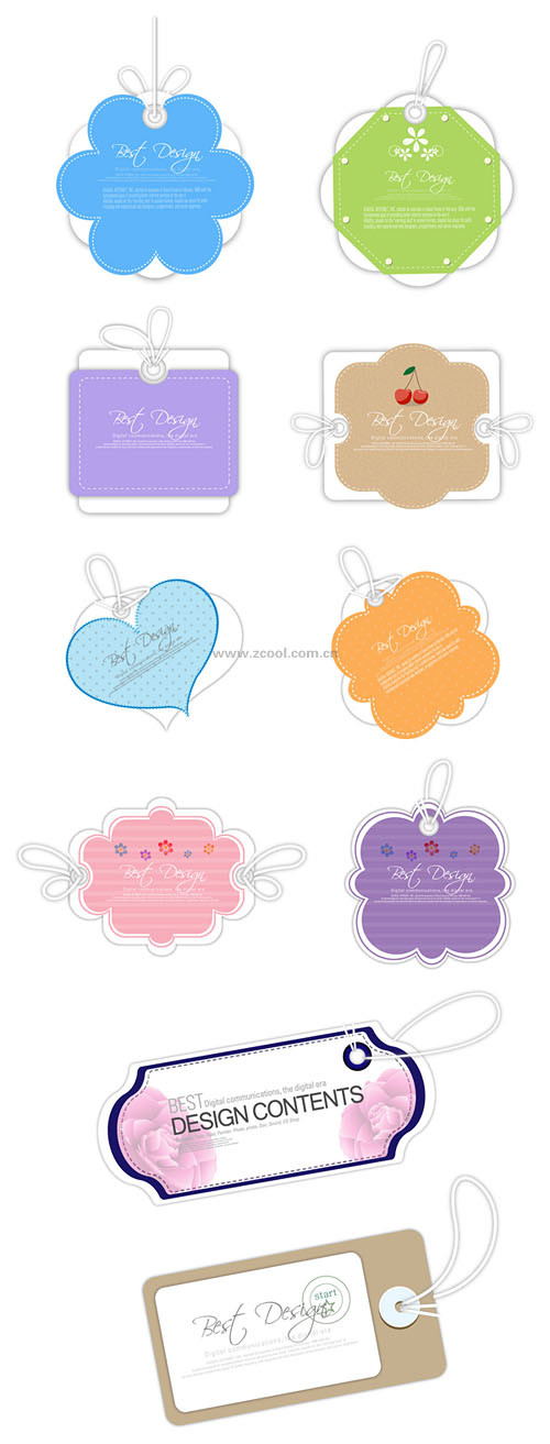free vector 10 lovely label tag vector