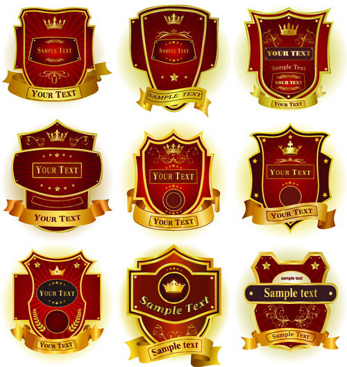free vector 10 sets of gorgeous european label icon vector