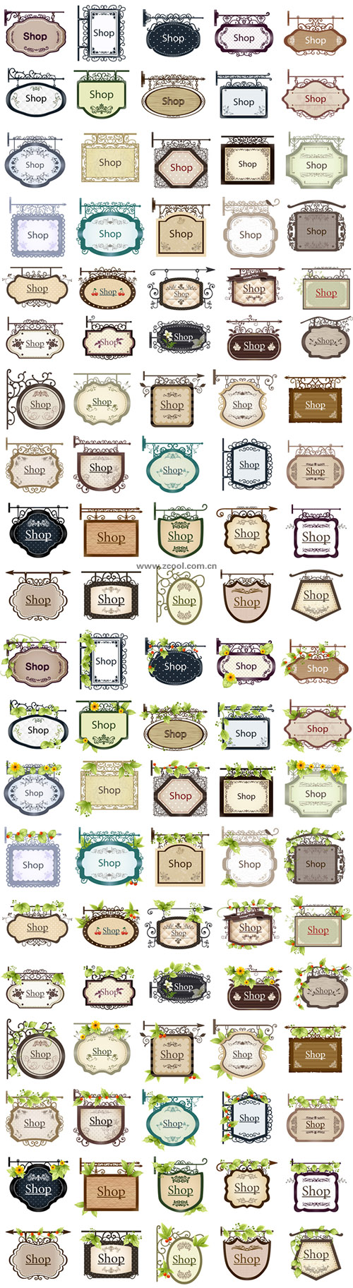 free vector 100 decorative vector listed shop