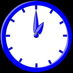 free vector 12 O Clock clip art