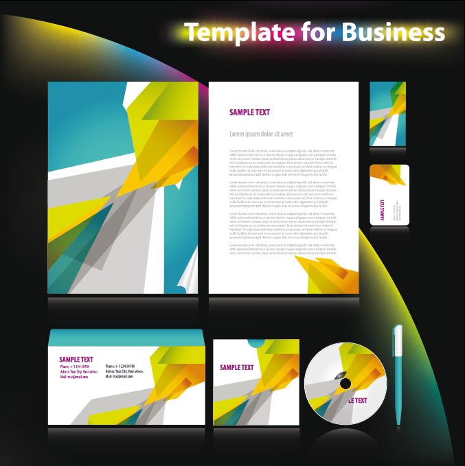 free vector 12 sets of basic vi template vector business