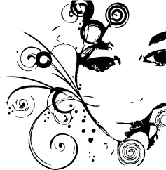 free vector 12, with the pattern portrait of female silhouettes vector material