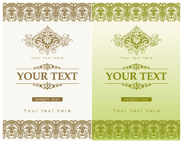 free vector 13 europeanstyle lace pattern vector