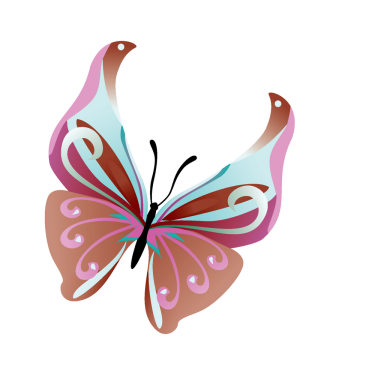 free vector 14 Colorful butterflies
