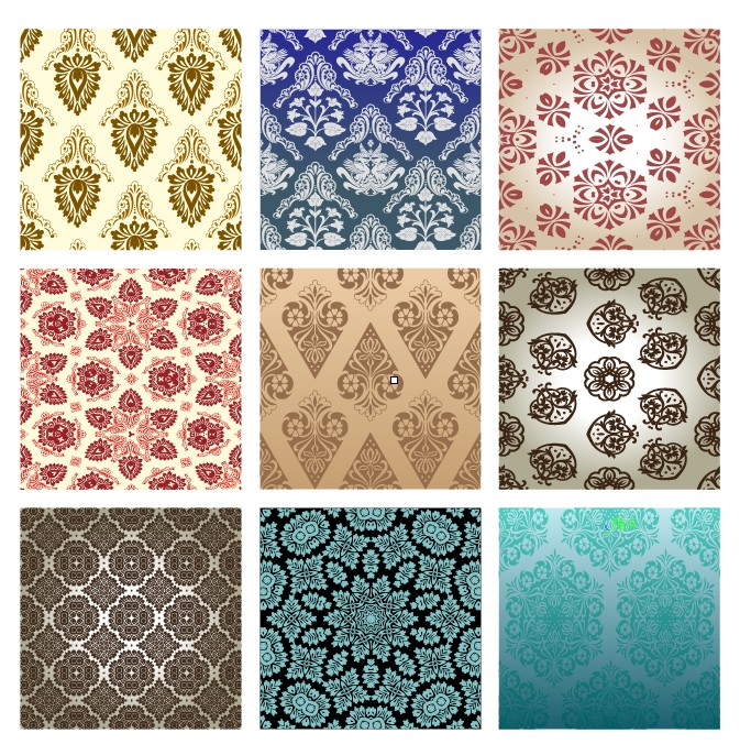 free vector 15 retro pattern wallpaper 01 vector