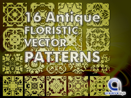free vector 16 Antique Floristic Vector Patterns