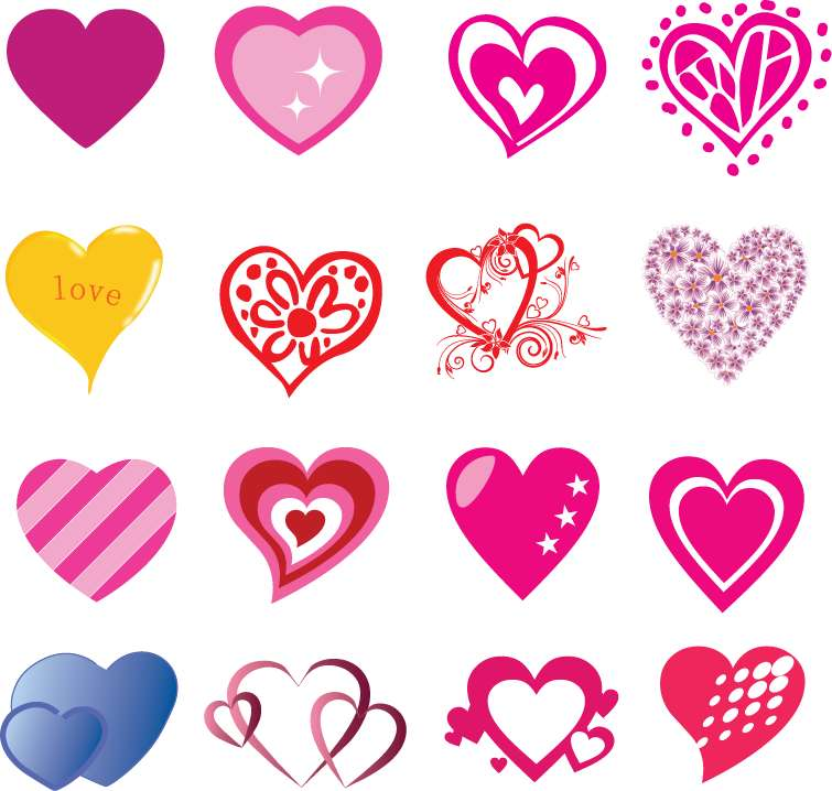 free vector 16 Free Heart Shaped Vectors for Valentine's Day