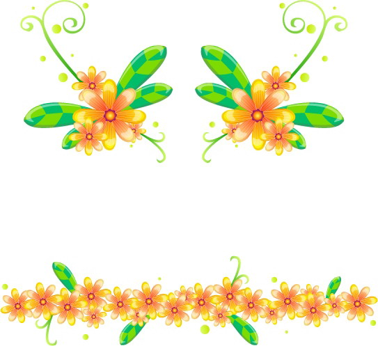 free vector 16 vector flowers and lace pattern
