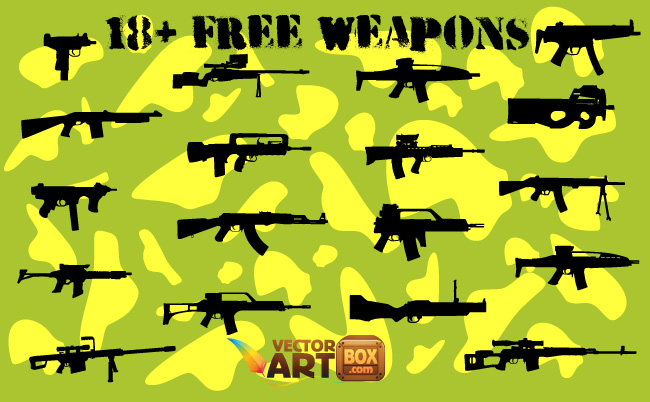 free vector 18+ Free Weapons