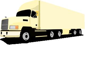 free vector 18 Wheeler Truck clip art