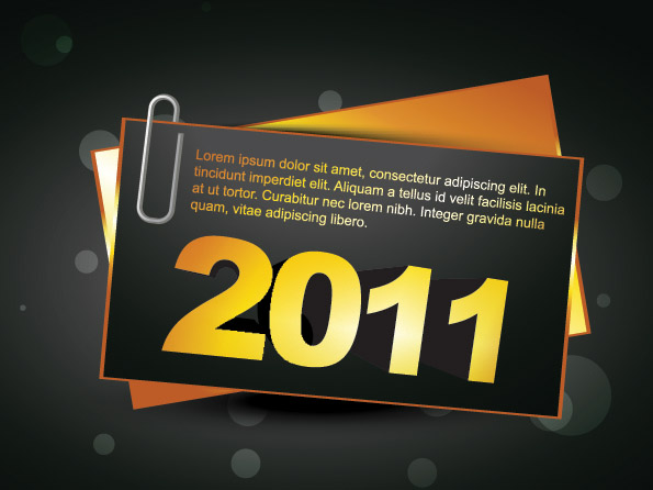 free vector 2 2011 new year clip art