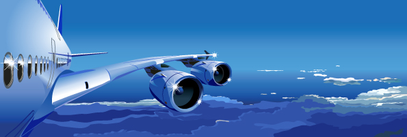 free vector 2 aircraft vector