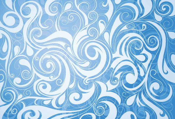 2 Beautiful Blue Pattern Vector Free Vector 4vector