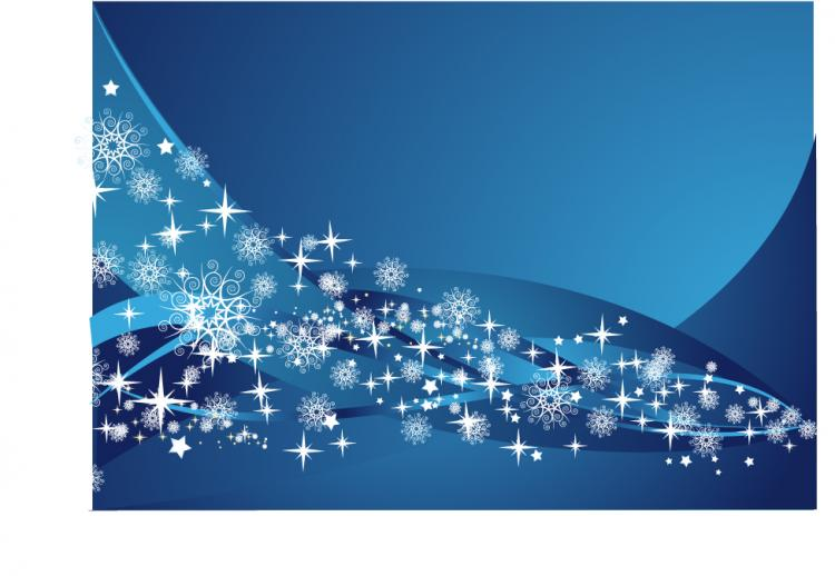free vector 2 blue snowflake background vector