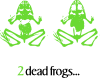 free vector 2 Dead Frogs clip art