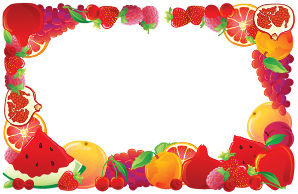2 fruit border vector free vector   4vector Herb Border free fruit and vegetable borders clip-art