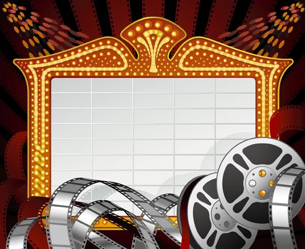 free vector 2 movie theme clip art