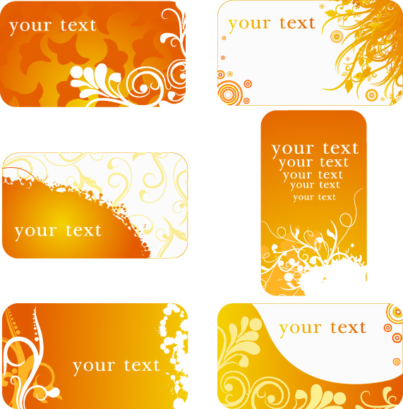 free vector 2 sets of pattern background card template vector